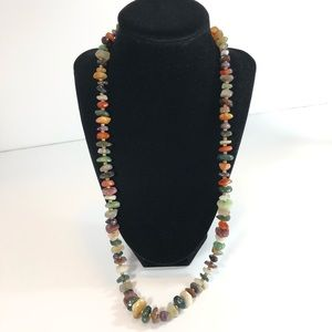 Semi-Precious Stones Beaded Necklace 26""